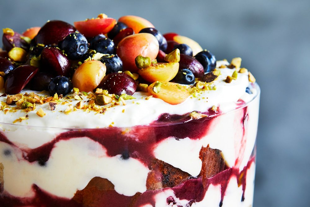 Cherry-Pistachio Trifle