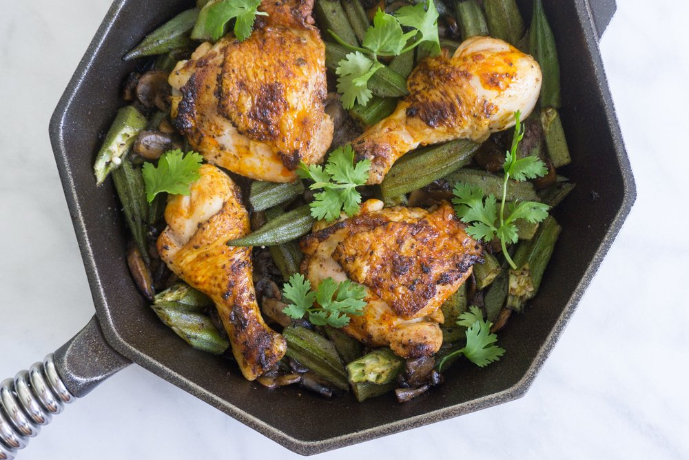 Cast-Iron Harissa Chicken