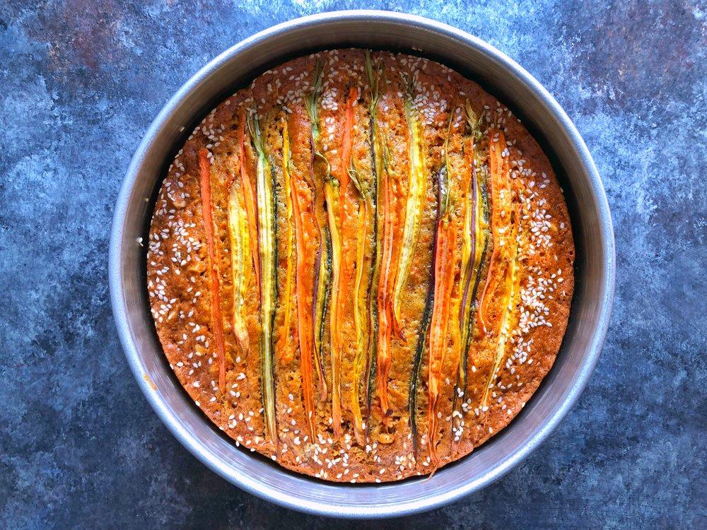 Tahini Carrot Cake