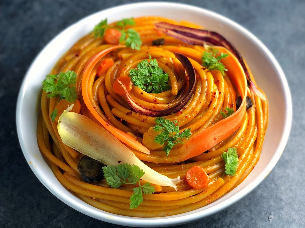 Carrot Bucatini Pasta