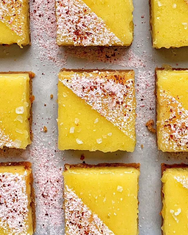 She's so lucky, she's a bar. (Working on some lemon bars for @thefeedfeed, get your lips ready to smack) #feedfeed #baking #lemon #lemonbars #dessert