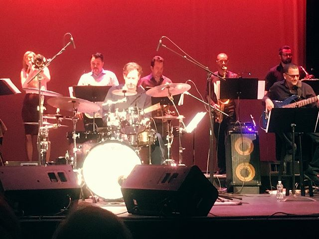 "The Birdland All-Stars featuring Tommy Igoe, ""Best Jazz Drummer."" Cool contemporary jazz. Appeared tonight at Grunin Center, Toms River, NJ. Fun stuff.  shelleyjoygilbert.com #jazz #music #birdland"