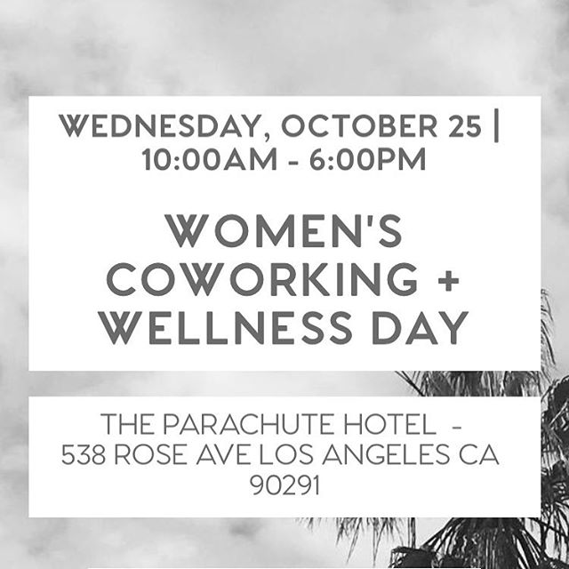 Hi Loves 🌹 if you don't have plans tomorrow and in LA, tomorrow is another @wrkspc_oasis monthly Women's Coworking + Wellness Day! It's a beautiful day full of the most amazing, inspiring entrepreneurial women from various industries with opportunity to meet and collaborate, or just work remotely to yourself until the wellness portion of the day. If you have more questions let me know! I'll be attending tomorrow, hope to see you there! ✨ Bisous