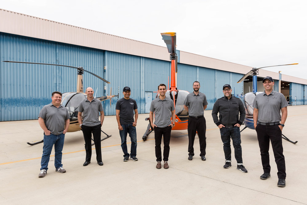 Meet the Rogue Aviation Team (from left to right): Brian Byfield (Owner), Chris Crampton (CFI), John Alvarado (CFI), Wade Wright (CFI), Kevin Major (CFI), Matt Barnes (Owner/Director of Education) and James Baker (Owner/Chief Pilot).