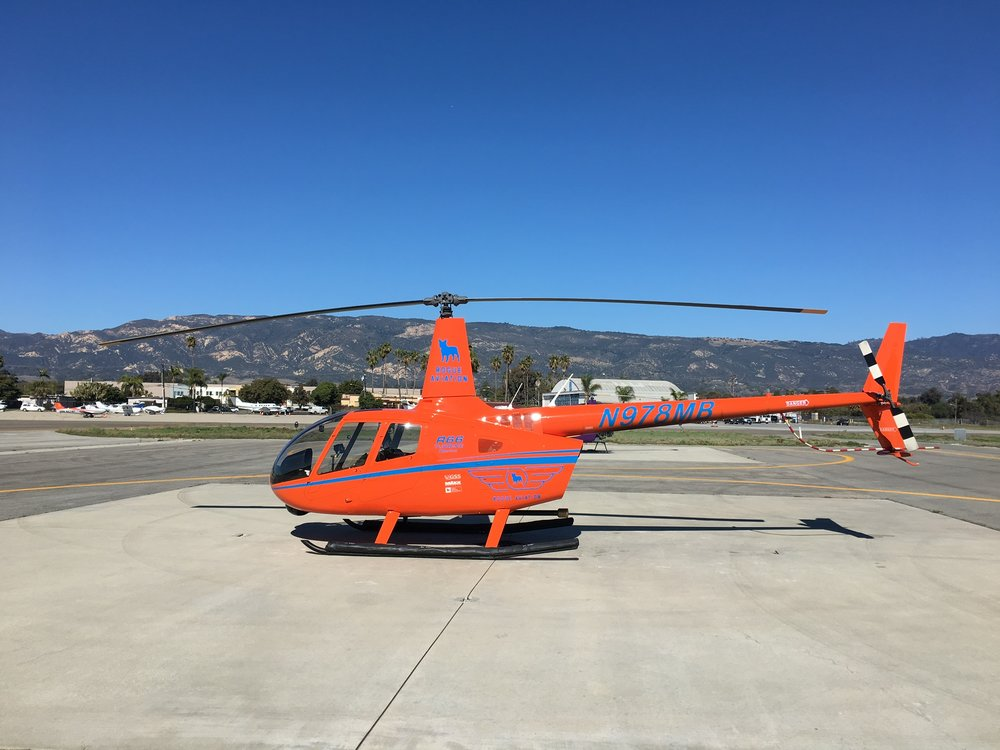 At the Signature Helipads in Santa Barbara.
