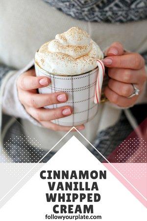 Cinnamon Vanilla Whipped Cream