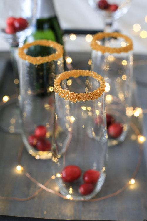 Sugar Rimmed Cocktail Glasses