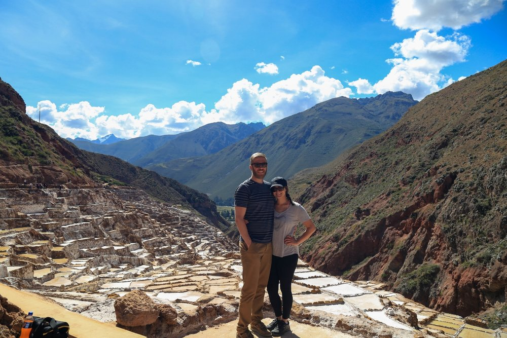 Our last major vacation in Peru brought us to the amazing salt mines shown here, otherwise known as Las Salinas.