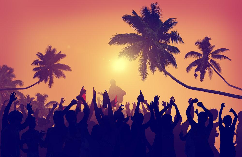 Adolescence Summer Festive Music Fans Concert Dancing Concept