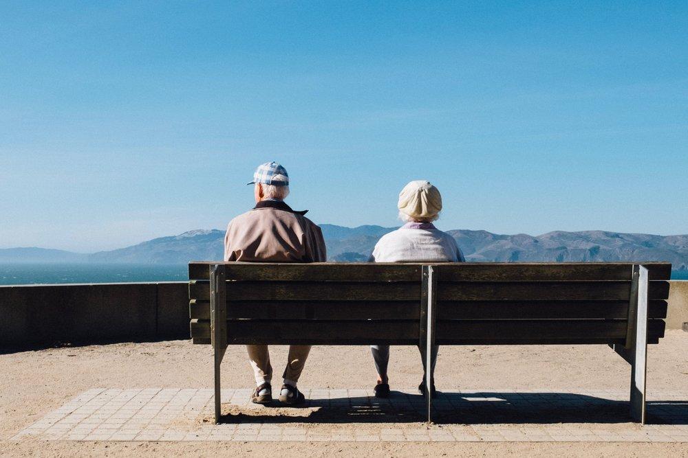 older couple contemplates hiring a marietta divorce attorney.