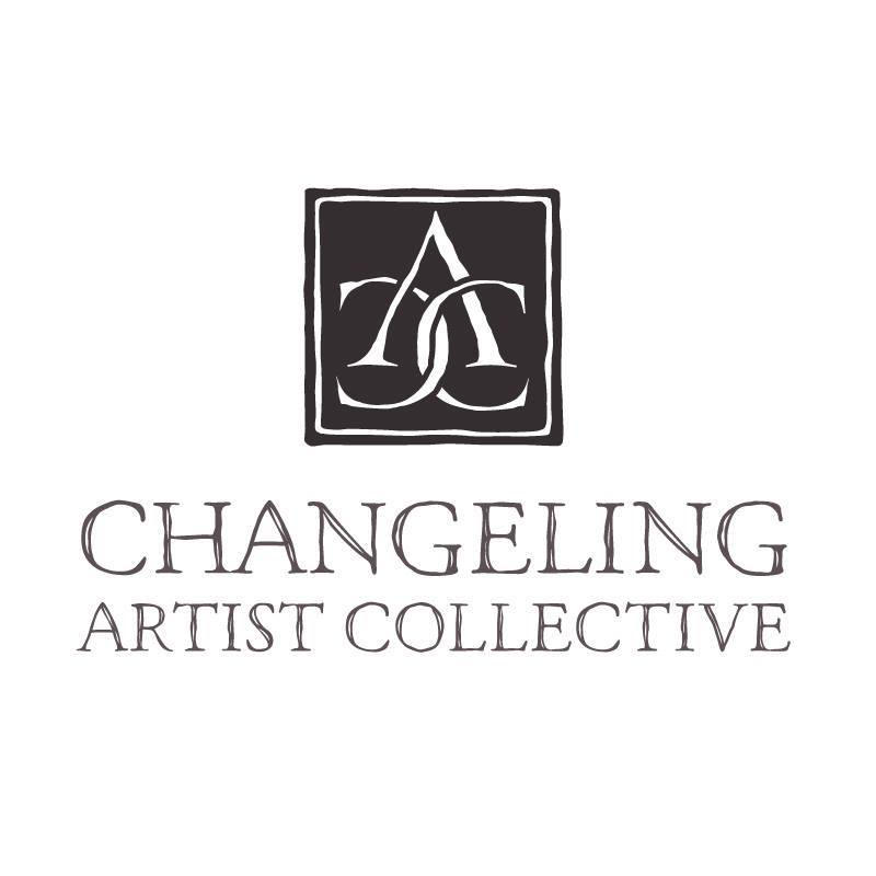 Changeling Artist Collective Logo  A majority of our illustrators are inspired by Golden Age illustrators. I designed the icon to look like a maker's mark and chose the typeface, because it was reminiscent of those found on antique books from the same era.