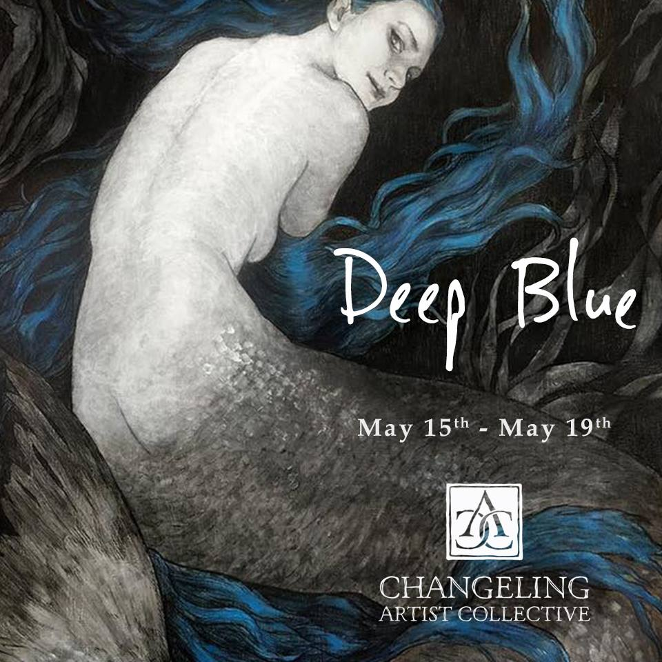 Deep Blue Banner  Created for one of the Changeling artist Collective auctions. Illustration by Anna K Szalas