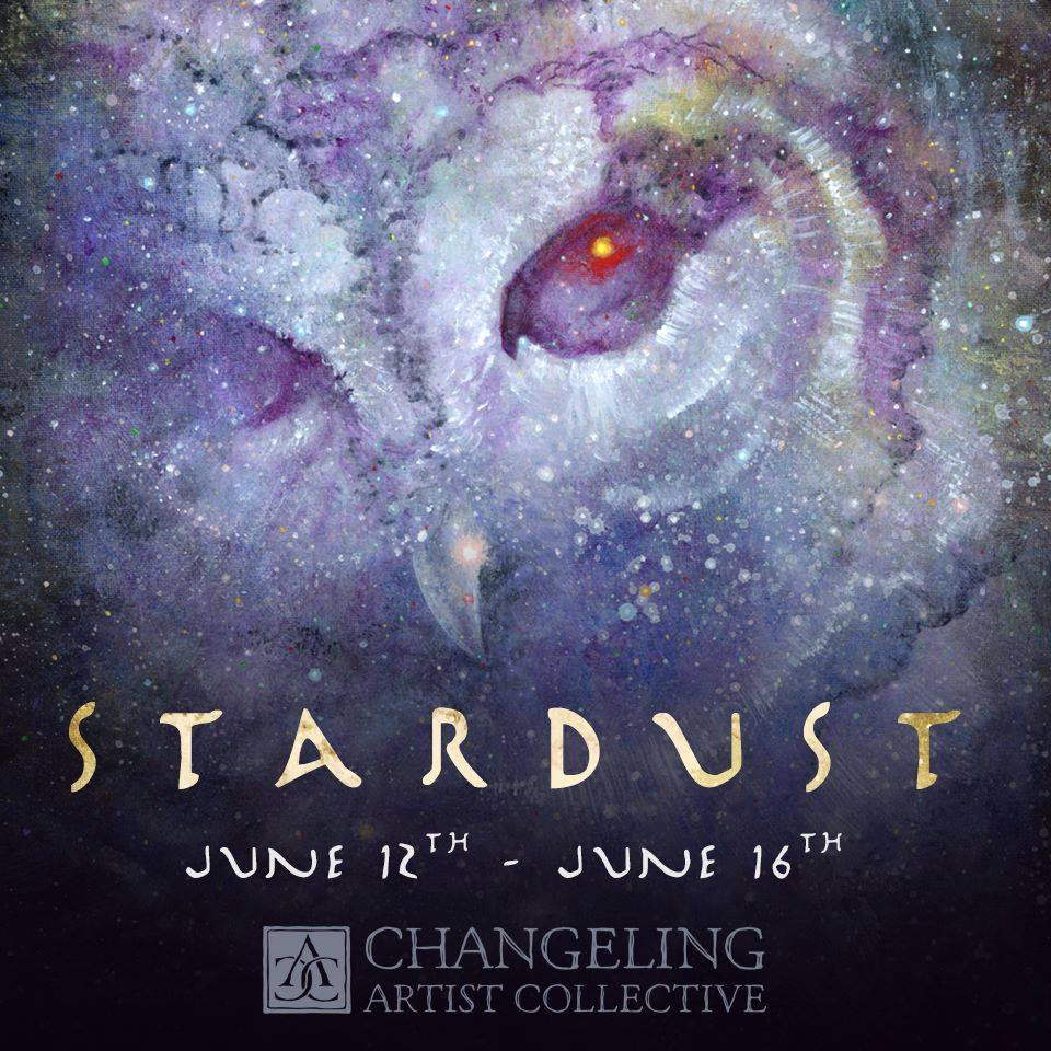 Stardust Banner  Created for one of the Changeling artist Collective auctions. Illustration by Melissa Gay.