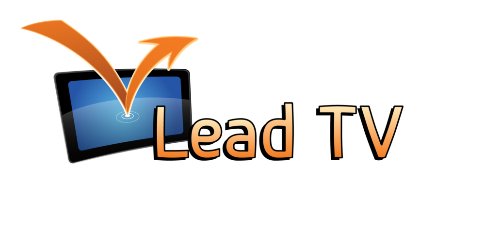 Lead TV logo  Logo created for an app, which showed sales leads popping up on a map in real time.