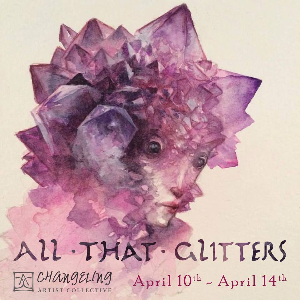 All That Glitters Banner  Created for one of the Changeling artist Collective auctions. Illustration by Iris Compiet
