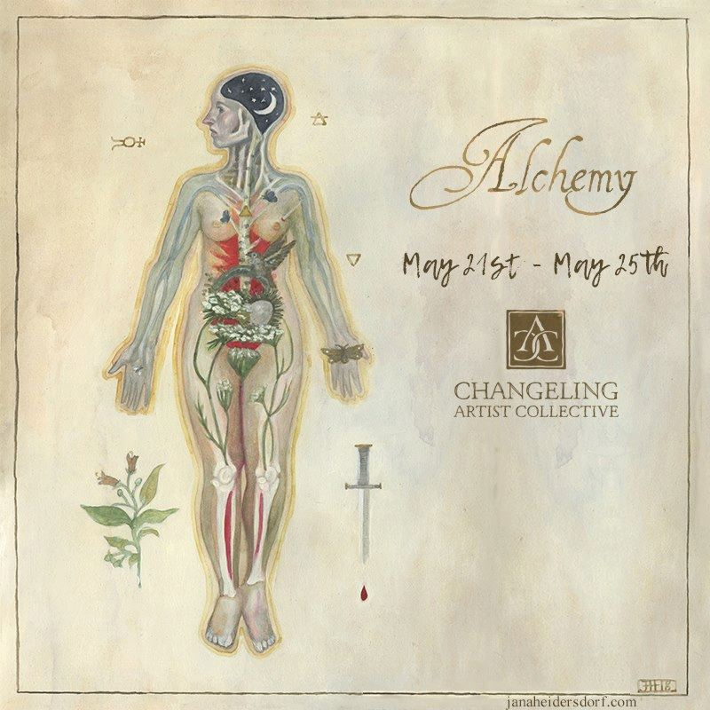 Alchemy Banner  Created for one of the Changeling artist Collective auctions. Illustration by Jana Heidersdorf.