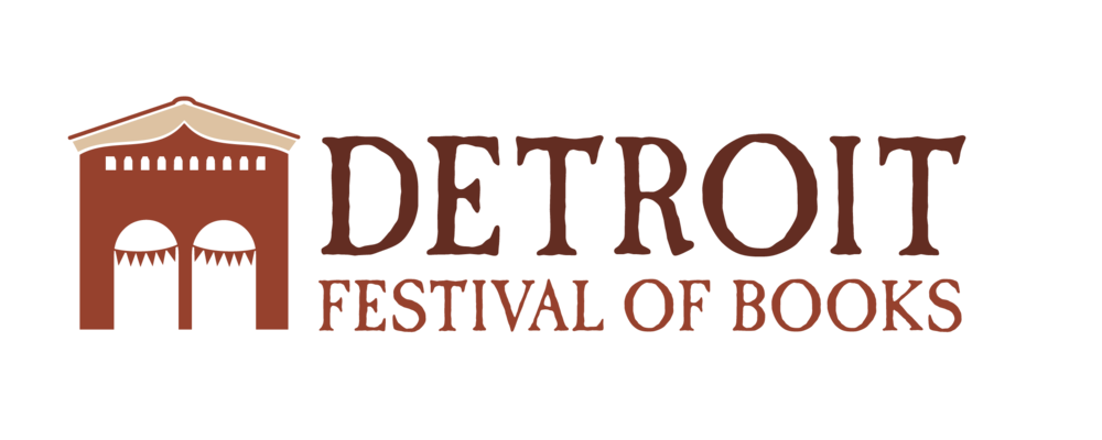 Detroit Festival of Books logo  Logo created for a book festival, which happens at a historical landmark in Detroit, known as Eastern Market.