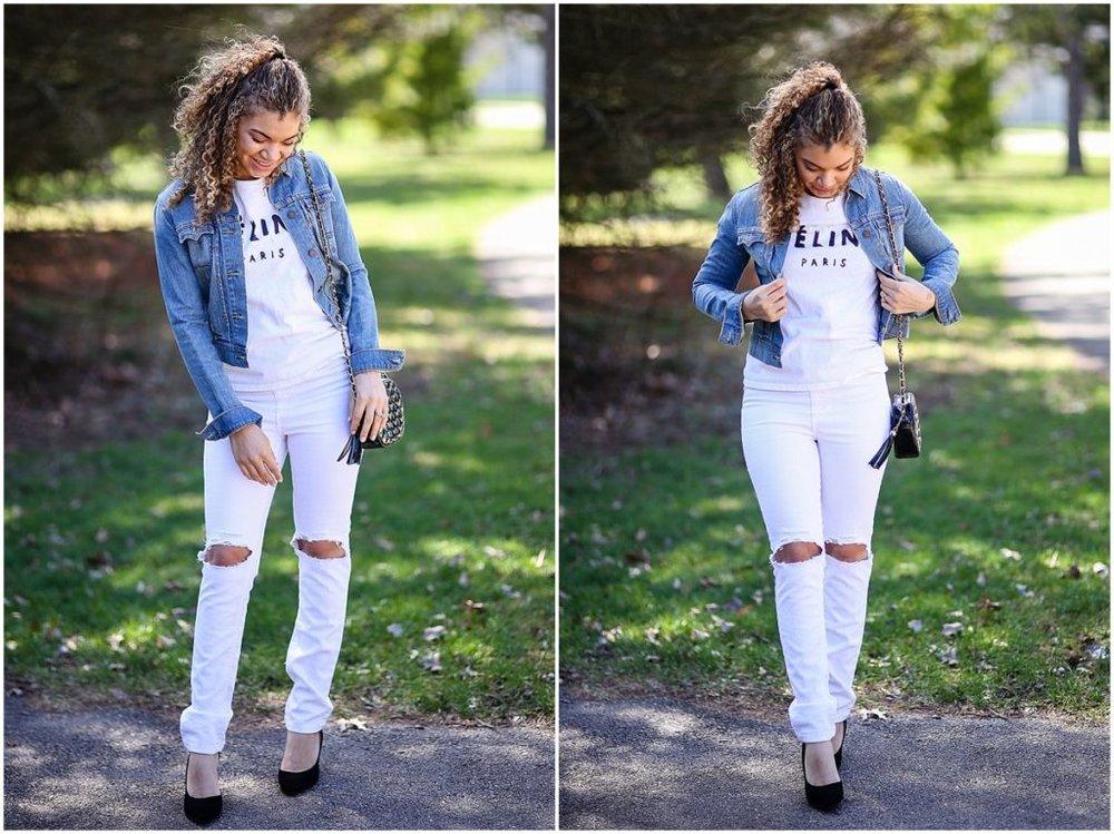 style a denim jacket