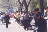 「4.25」和平請願(網絡圖片)