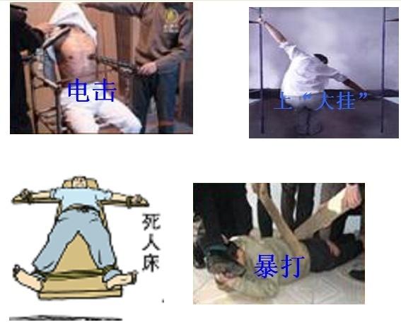 馬三家酷刑演示(明慧網)