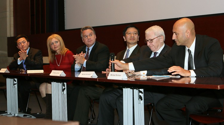 Congressman Chris Smith (R-N.J.) spoke on a panel following the private screening of the film Free China: The Courage to Believe at the U.S. Capitol, Sep. 20. Rep. Smith is the Chairman of the Congressional-Executive China Commission (CECC), which sponsored the screening. (Lisa Fan/The Epoch Times)