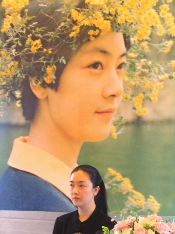 曾錚2004年1月7日在臺灣臺北的《靜水流深》新書發表會上。