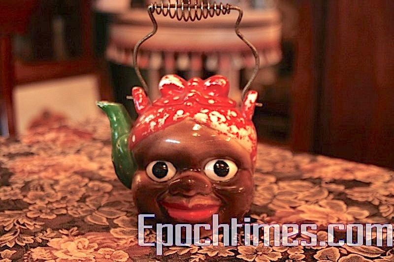 產生1952年的日本「嬤嬤」茶壺,因種族歧視原因,不能再造,因此已成絕版