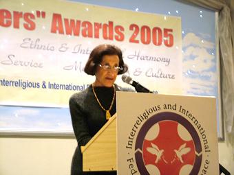 紐省總督瑪麗‧巴捨爾教授(Her Excellency Professor Marie Bahir)致辭(大紀元)