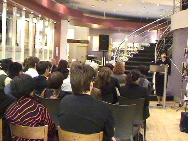 """ennifer launches her book  """"Witnessing History: one woman's fight for freedom and Falun Gong """" in May, 2005, in Melbourne, Australia."""