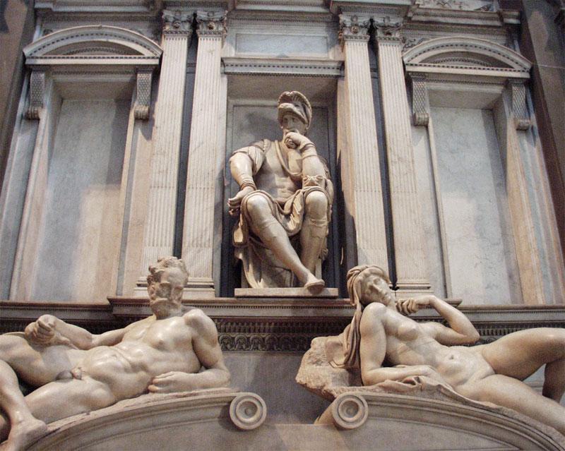 Tomb of Giuliano di Lorenzo, Duke of Nemours, San Lorenzo, Florence 洛倫佐二世·德·美第奇墓,以及《晨》與《昏》