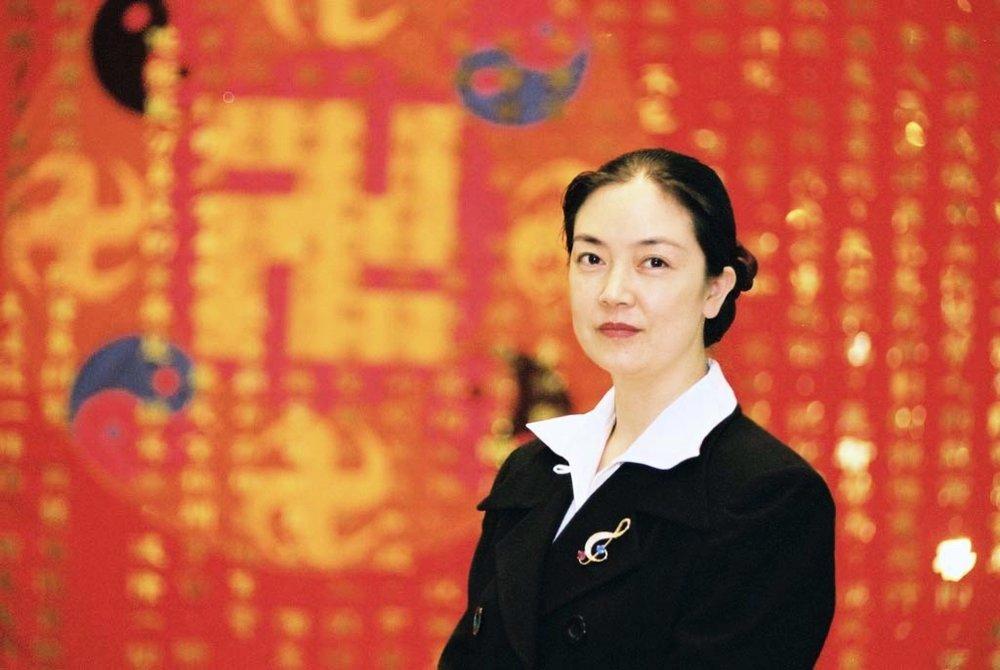 曾錚2004年1月攝於臺北法輪大法心得交流會會場。