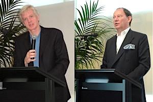 圖片:2006年8月22日, 大衛.喬高和麥克米蘭-斯考特在昆士蘭大學舉行中共活摘器官報告會