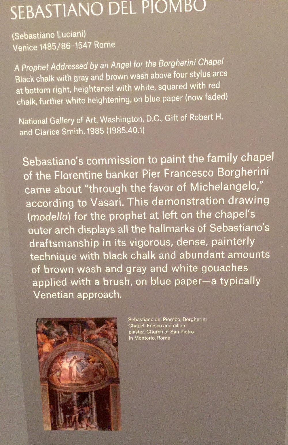 這是文藝復興時期意大利畫家、米開郞基羅的好友Sebastiano Del Piombo的作品,據稱,Sebastiano Del Piombo是通過米開郞基羅得到這個教堂壁畫項目的。
