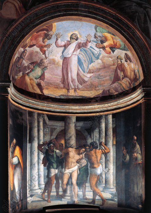 Sebastiano Del Piombo,Borgherini Chapel. Fresco and oil on plaster. Church of San Pietro in Montorio, Rome 完成壁畫。現存於羅馬蒙托里奧聖伯多祿堂(San Pietro in Montorio)。