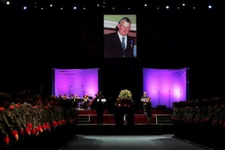 班頓的州葬在悉尼奧林匹克公園宏基體育館(Acer Arena)舉行(Lisa Maree Williams/Getty Images)