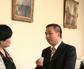 馮海光在接受大紀元採訪(大紀元記者肖楠攝)