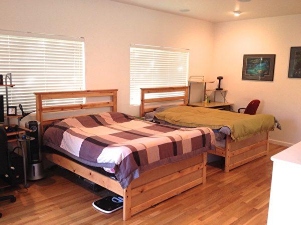 周美麗家小留學生們的房間。(周美麗提供)