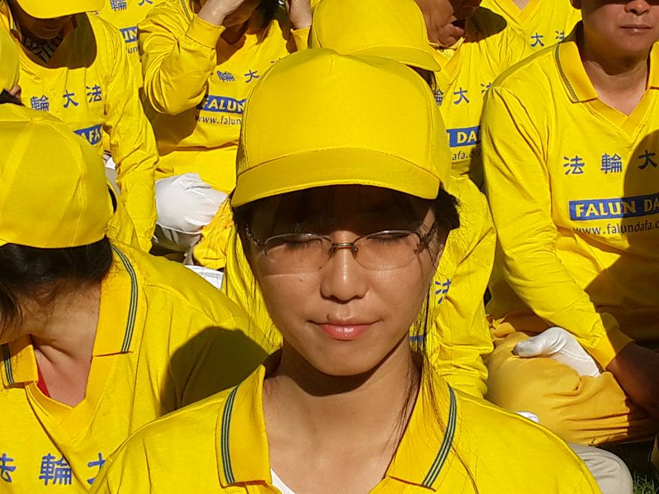 Hongyu in  Falun Dafa  meditation