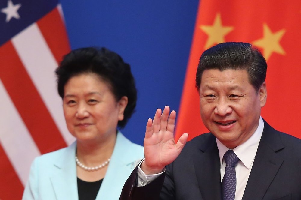 Chinese paramount leader Xi Jinping (R) and Vice Premier Liu Yandong (L) arrive at the opening ceremony of the 6th China-U.S. Security and Economic Dialogue and 5th round of China-U.S. High Level Consultation on People-to-People Exchange at Diaoyutai State Guest House on July 9, 2014 in Beijing, China. (Feng Li/Getty Images)