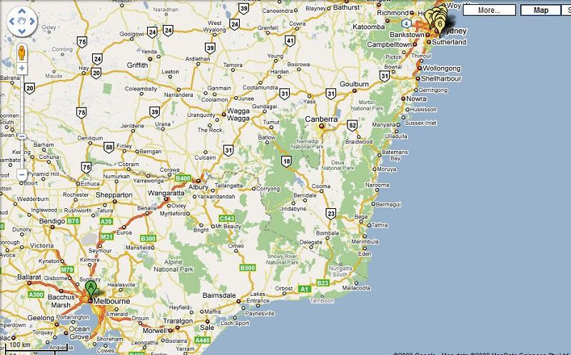 從這個地圖上,能大致看出我們這次 自駕遊 所走過的路線,從圖中的「A」到「6」,沿海邊走,1055公里左右。