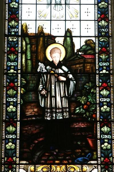 教堂內的玻璃畫。