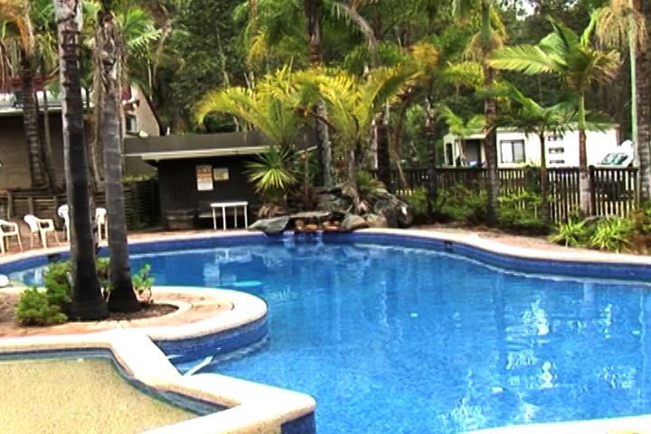 度假地中的游泳池