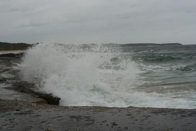 冷風烈烈的海灘