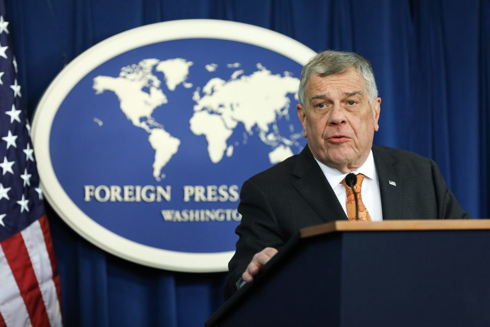 Ambassador Michael Kozak, Bureau of Democracy, Human Rights, and Labor, speaks at the Foreign Press Center in Washington on March 13, 2019. (Samira Bouaou/The Epoch Times)