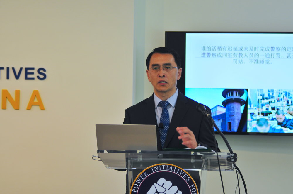 Yu Ming speaks at the  Citizen Power Initiatives for China  in Washington on April 22, 2019 (Lynn Lin/The Epoch Times)