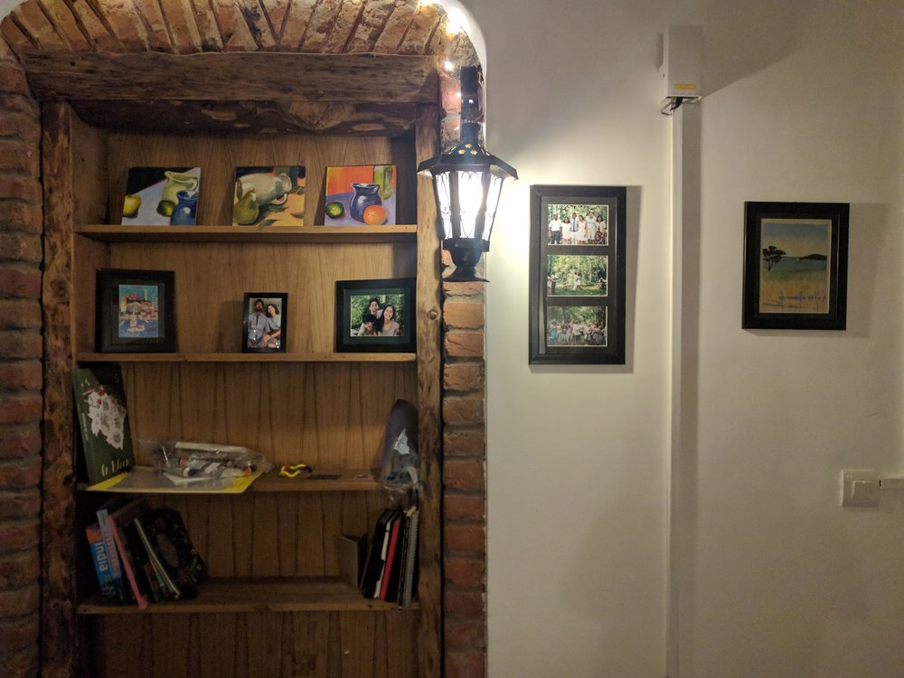 Art and photos (newly framed in Mussoorie!) make our house feel more homey