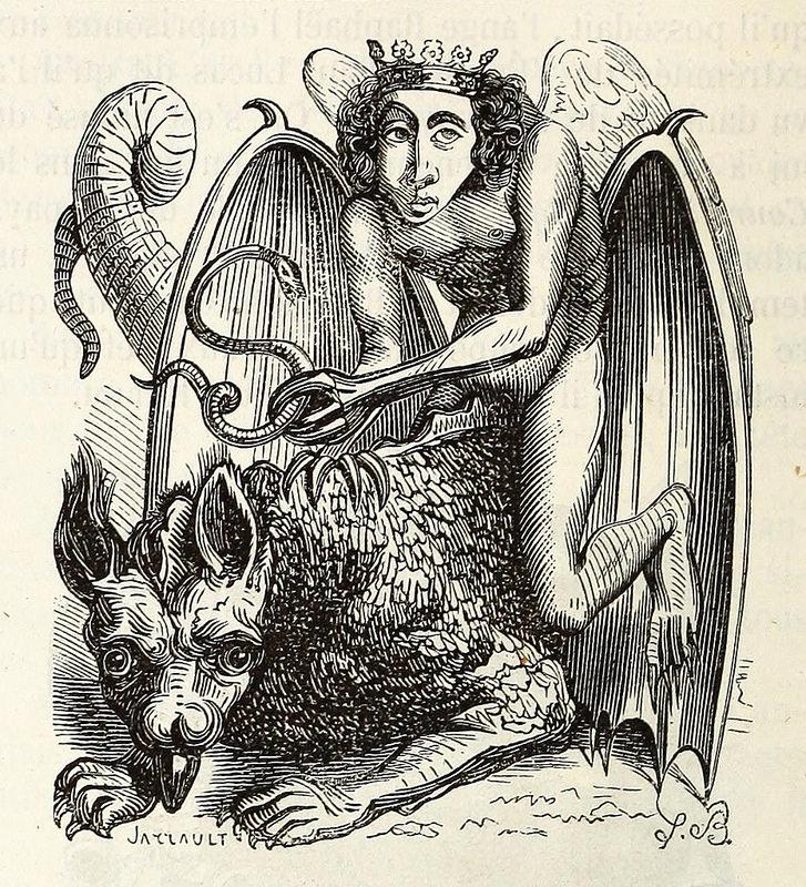 Astaroth, de la edición de 1863 del  Dictionnaire infernal  de Collin de Plancy.