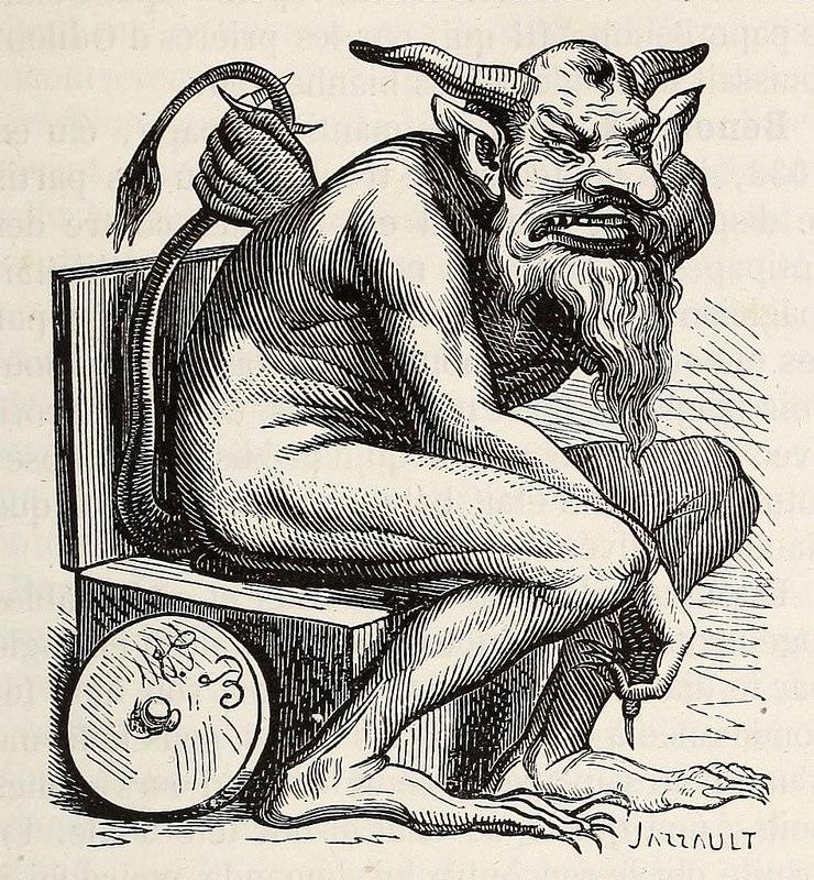 Belphégor, de la edición de 1863 del  Dictionnaire infernal  de Collin de Plancy.