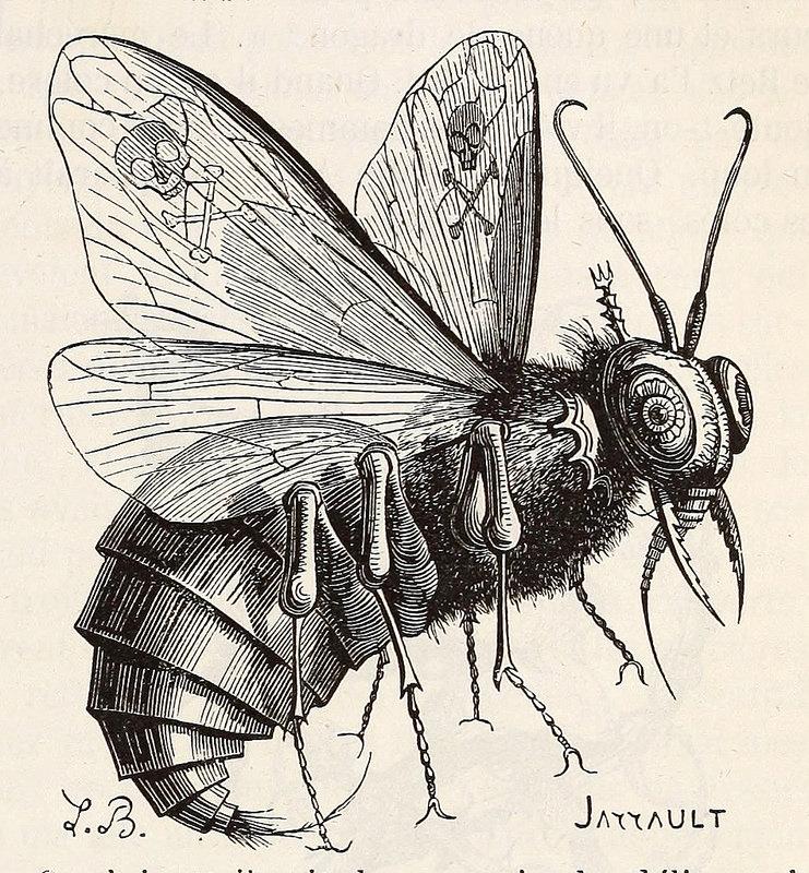 Belzebuth, de la edición de 1863 del  Dictionnaire infernal  de Collin de Plancy.