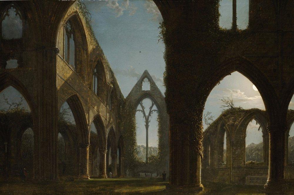 Abadía de Tintern, de Carl Gustav Carus, s.f.